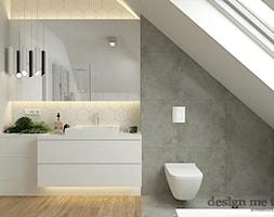 H.I. 098 | BIENIEWICE - Mała łazienka na poddaszu, styl nowoczesny - zdjęcie od design me too - Homebook
