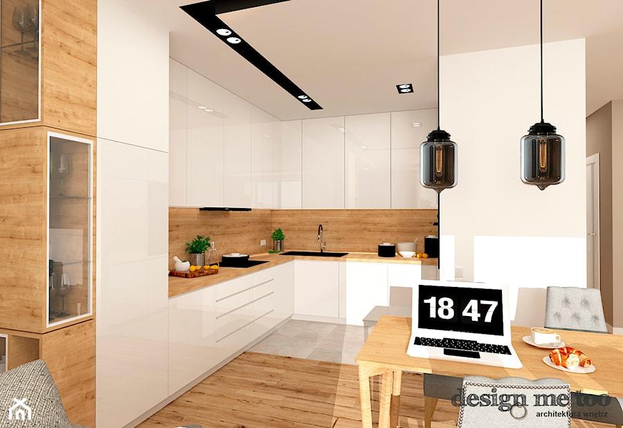 GRAZIOSO APARTAMENTY - Średnia otwarta kuchnia w kształcie litery l w aneksie, styl nowoczesny - zdjęcie od design me too