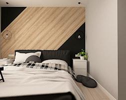 NOWOCZESNY APARTAMENT W PRUSZKOWIE - Mała kolorowa sypialnia dla gości na poddaszu, styl nowoczesny - zdjęcie od design me too