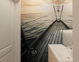 MIESZKANIE NA URSYNOWIE 85 M2 - Mała kolorowa łazienka w bloku bez okna, styl nowoczesny - zdjęcie od design me too