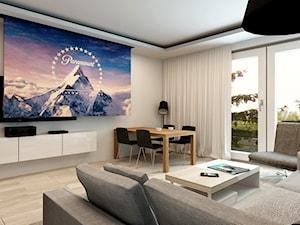Mieszkanie Rembertów 80 m2 - Średni biały salon z jadalnią, styl minimalistyczny - zdjęcie od design me too