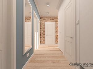 KAWAŁEK NIEBA NA WILANOWIE - Duży biały niebieski hol / przedpokój, styl klasyczny - zdjęcie od design me too