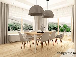 SKANDYNAWSKI DOM W WAWRZE - Duża otwarta biała jadalnia jako osobne pomieszczenie, styl skandynawski - zdjęcie od design me too