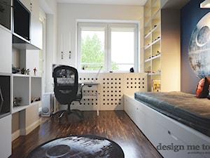 REALIZACJA POKOI DZIECIĘCYCH STAR WARS - Mały biały pokój dziecka dla chłopca dla ucznia dla nastolatka, styl nowoczesny - zdjęcie od design me too