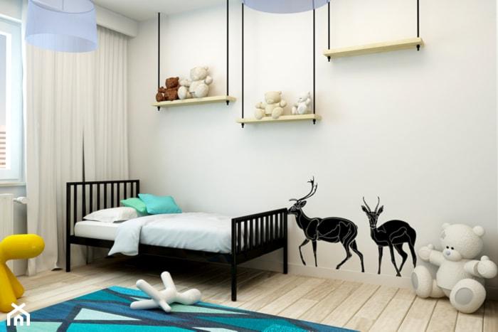 Mieszkanie Rembertów 80 m2 - Średni pokój dziecka dla chłopca dla dziewczynki dla malucha, styl ...