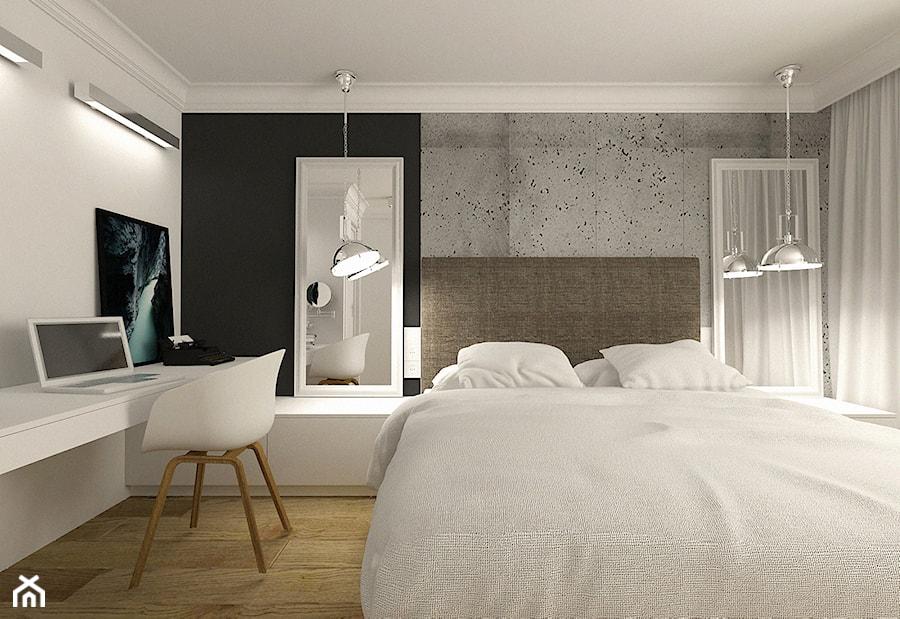 Nowoczesna sypialnia w apartamencie w Tomaszowie Mazowieckim - zdjęcie od design me too