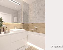 CIEPŁO SKANDYNAWSKICH WNĘTRZ - Mała szara łazienka w bloku w domu jednorodzinnym bez okna, styl ska ... - zdjęcie od design me too - Homebook