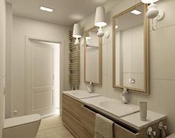 APARTAMENT NA GOCŁAWIU 120 m2 - Średnia beżowa łazienka bez okna, styl klasyczny - zdjęcie od design me too
