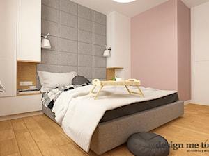 NOWOCZESNY APARTAMENT W PRUSZKOWIE WERSJA II - Średnia różowa sypialnia małżeńska, styl nowoczesny - zdjęcie od design me too