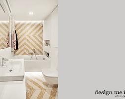 KAWALERKA NA BEMOWIE REALIZACJA - Średnia biała szara łazienka w bloku w domu jednorodzinnym bez okna, styl nowoczesny - zdjęcie od design me too