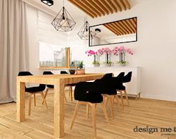 DOM W LESZNOWOLI - Średnia otwarta beżowa jadalnia w kuchni, styl nowoczesny - zdjęcie od design me too