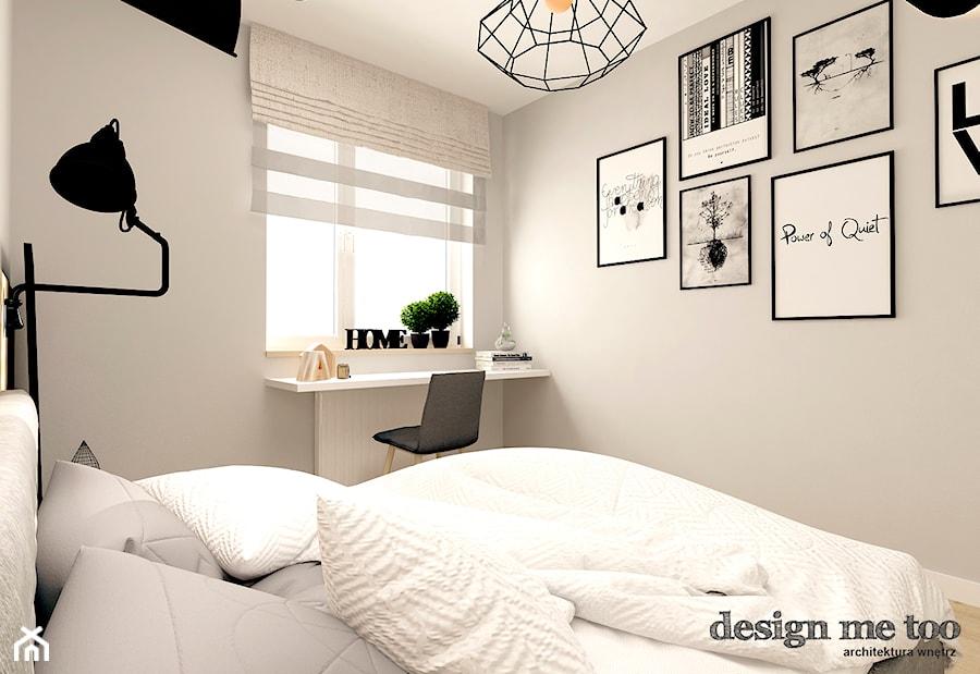 SKANDYNAWIA W NOWOCZESNYM WYDANIU NA WOLI - Mała szara sypialnia małżeńska, styl skandynawski - zdjęcie od design me too