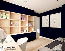 DOM W JÓZEFOSŁAWIU - Duże niebieskie biuro kącik do pracy w pokoju, styl nowoczesny - zdjęcie od design me too