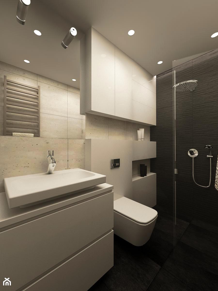 APARTAMENT NA GOCŁAWIU 120 m2 - Średnia łazienka, styl nowoczesny - zdjęcie od design me too