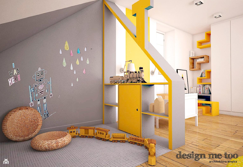 DOM W LESZNOWOLI - Duży biały szary pokój dziecka dla chłopca dla malucha, styl nowoczesny - zdjęcie od design me too - Homebook