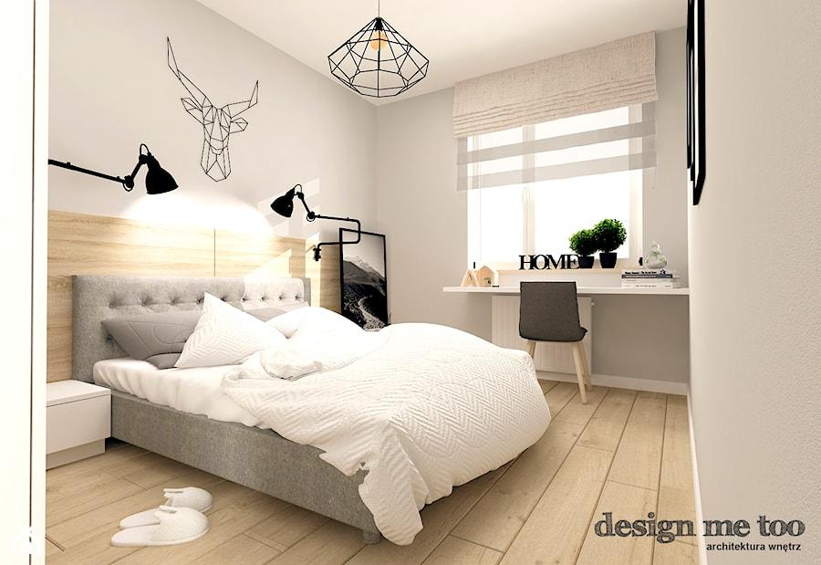 SKANDYNAWIA W NOWOCZESNYM WYDANIU NA WOLI - Średnia szara sypialnia małżeńska, styl skandynawski - zdjęcie od design me too