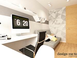 NOWOCZESNE MIESZKANIE NA MOKOTOWIE - Średnie szare biuro domowe kącik do pracy w pokoju, styl nowoczesny - zdjęcie od design me too
