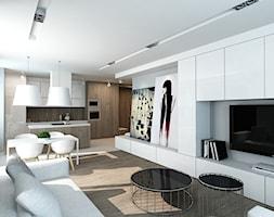 Salon z aneksem kuchennym - zdjęcie od design me too