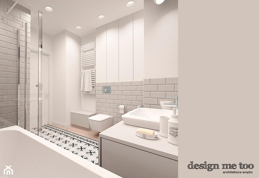 KAWAŁEK NIEBA NA WILANOWIE - Średnia biała łazienka bez okna, styl nowoczesny - zdjęcie od design me too