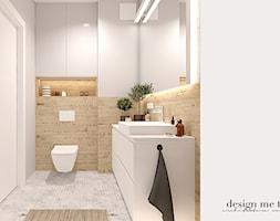 CIEPŁO SKANDYNAWSKICH WNĘTRZ - Średnia biała łazienka bez okna, styl skandynawski - zdjęcie od design me too - Homebook