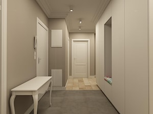 APARTAMENT NA GOCŁAWIU 120 m2 - Średni szary hol / przedpokój, styl klasyczny - zdjęcie od design me too