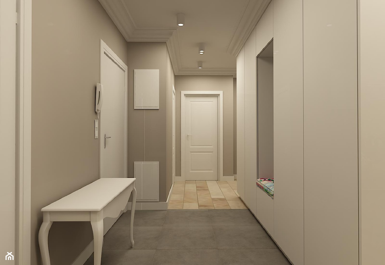 APARTAMENT NA GOCŁAWIU 120 m2 - Średni szary hol / przedpokój, styl klasyczny - zdjęcie od design me too - Homebook