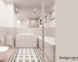 KAWAŁEK NIEBA NA WILANOWIE - Średnia biała szara łazienka w bloku bez okna, styl klasyczny - zdjęcie od design me too