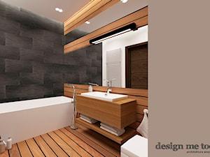DOM NA OSIEDLU ZACISZE W WARSZAWIE - Średnia czarna łazienka w bloku w domu jednorodzinnym bez okna, styl nowoczesny - zdjęcie od design me too