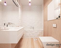 NOWOCZESNY APARTAMENT NA WILANOWIE - Mała biała łazienka bez okna, styl nowoczesny - zdjęcie od design me too - Homebook