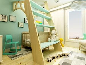 POKÓJ PAWEŁKA - Mały biały pastelowy zielony pokój dziecka dla chłopca dla dziewczynki dla niemowlaka, styl nowoczesny - zdjęcie od design me too