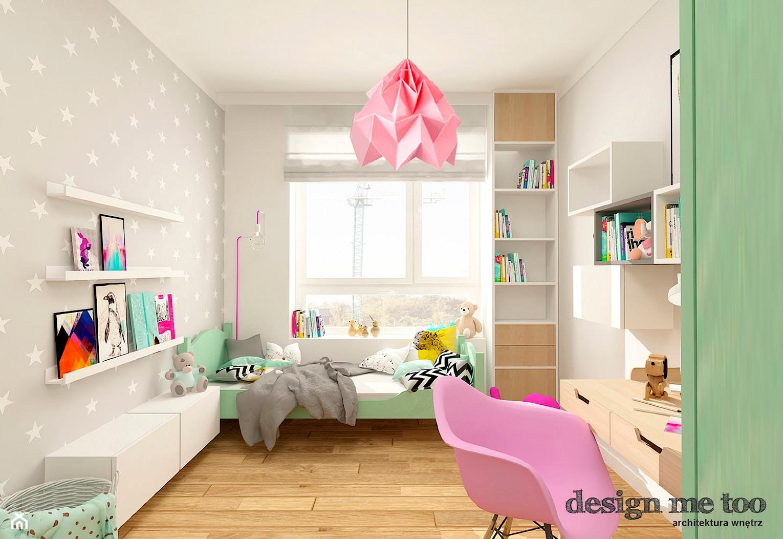 NOWOCZESNE BEMOWO - Średni szary pokój dziecka dla dziewczynki dla malucha, styl skandynawski - zdjęcie od design me too - Homebook