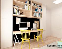 KAWAŁEK NIEBA NA WILANOWIE - Średnie czarne białe biuro domowe kącik do pracy w pokoju, styl vintage - zdjęcie od design me too