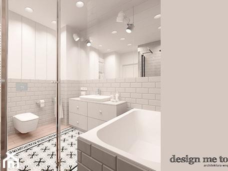 KAWAŁEK NIEBA NA WILANOWIE - Średnia biała łazienka w bloku bez okna, styl klasyczny - zdjęcie od design me too