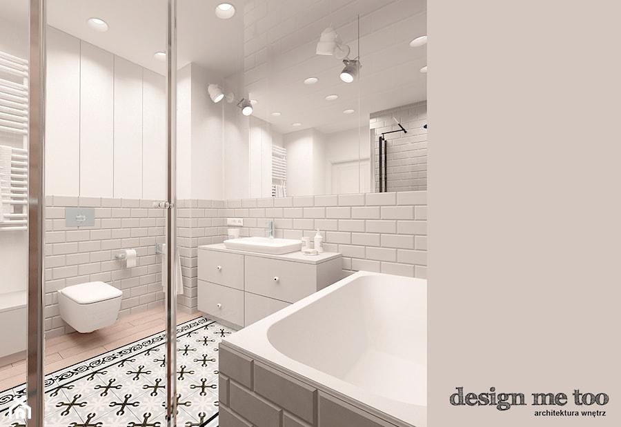 Aranżacje wnętrz - Łazienka: KAWAŁEK NIEBA NA WILANOWIE - Średnia biała łazienka w bloku bez okna, styl klasyczny - design me too. Przeglądaj, dodawaj i zapisuj najlepsze zdjęcia, pomysły i inspiracje designerskie. W bazie mamy już prawie milion fotografii!