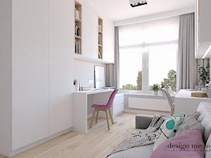 CIEPŁO SKANDYNAWSKICH WNĘTRZ - Średnie białe biuro domowe kącik do pracy w pokoju, styl skandynawski - zdjęcie od design me too