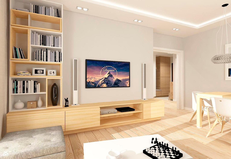MIESZKANIE NA URSYNOWIE 85 M2 - Średni szary salon z jadalnią, styl nowoczesny - zdjęcie od design me too - Homebook