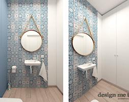 KAWAŁEK NIEBA NA WILANOWIE - Mała łazienka bez okna, styl vintage - zdjęcie od design me too