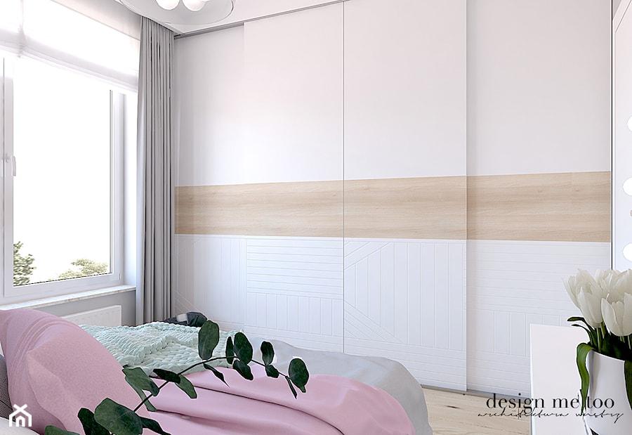 CIEPŁO SKANDYNAWSKICH WNĘTRZ - Średnia szara sypialnia małżeńska, styl nowoczesny - zdjęcie od design me too