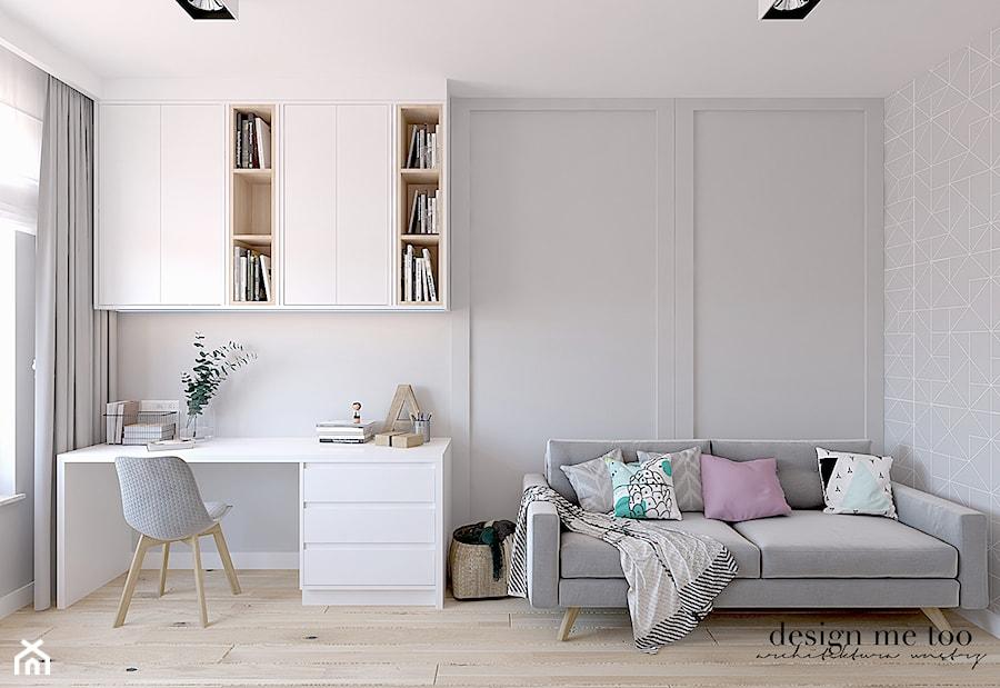 CIEPŁO SKANDYNAWSKICH WNĘTRZ - Średni szary pokój dziecka dla chłopca dla dziewczynki dla ucznia dla nastolatka, styl skandynawski - zdjęcie od design me too