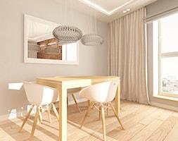 MIESZKANIE NA URSYNOWIE 85 M2 - Duża zamknięta szara jadalnia jako osobne pomieszczenie, styl nowoczesny - zdjęcie od design me too