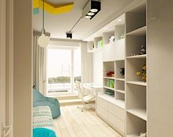 APARTAMENT NA GOCŁAWIU 120 m2 - Mały biały pokój dziecka dla chłopca dla ucznia dla nastolatka, styl nowoczesny - zdjęcie od design me too