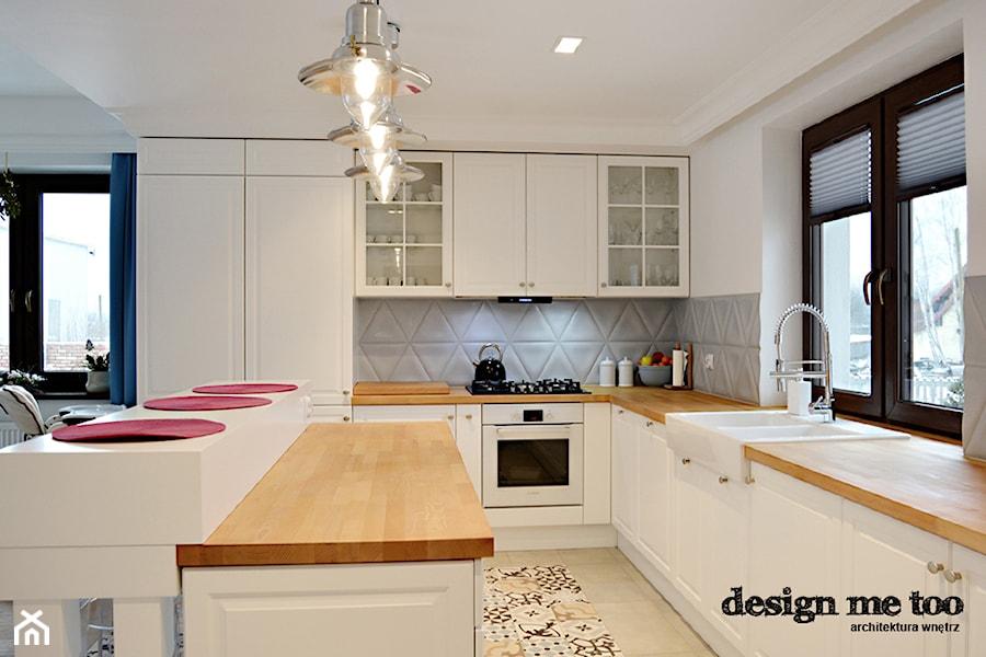 PROWANSALSKO ANGIELSKI MIX REALIZACJA  Duża otwarta kuchnia w kształcie lite   -> Okap Kuchenny Kuchnia Angielska