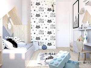 POKOIK MAŁEGO DŻENTELMENA - Mały biały szary czarny pokój dziecka dla chłopca dla dziewczynki dla malucha, styl skandynawski - zdjęcie od design me too