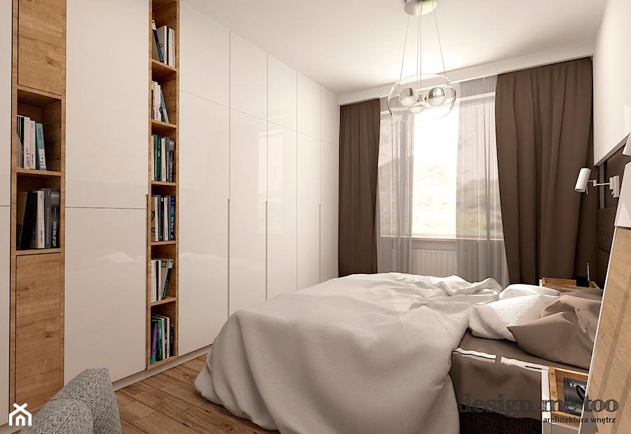 GRAZIOSO APARTAMENTY - Średnia biała sypialnia małżeńska, styl nowoczesny - zdjęcie od design me too