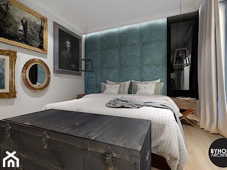 Aranżacje wnętrz - Sypialnia: kolorLOVE - Średnia biała czarna sypialnia małżeńska z balkonem / tarasem, styl eklektyczny - BYHOUSE ARCHITECTS. Przeglądaj, dodawaj i zapisuj najlepsze zdjęcia, pomysły i inspiracje designerskie. W bazie mamy już prawie milion fotografii!