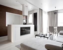 nowoczesny salon z kuchnią - zdjęcie od BYHOUSE ARCHITECTS - Homebook