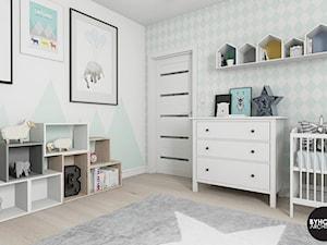 scandiHOUSE - Średni biały pastelowy miętowy pokój dziecka dla chłopca dla dziewczynki dla malucha, styl skandynawski - zdjęcie od BYHOUSE ARCHITECTS