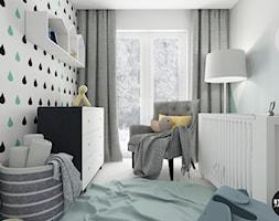 nowoczesnyMINIMALIZM - Mały szary pokój dziecka dla chłopca dla dziewczynki dla niemowlaka, styl nowoczesny - zdjęcie od BYHOUSE ARCHITECTS