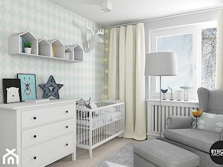 scandiHOUSE - Średni biały pastelowy miętowy pokój dziecka dla chłopca dla niemowlaka, styl skandynawski - zdjęcie od BYHOUSE ARCHITECTS