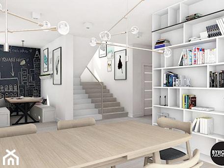 Aranżacje wnętrz - Jadalnia: scandiHOUSE - Średnia otwarta biała czarna jadalnia w salonie, styl skandynawski - BYHOUSE ARCHITECTS. Przeglądaj, dodawaj i zapisuj najlepsze zdjęcia, pomysły i inspiracje designerskie. W bazie mamy już prawie milion fotografii!